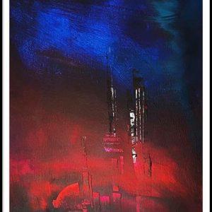 Christine Sparks, Setting Fires, A3, Acrylic