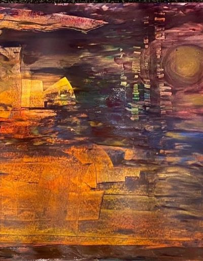 Christine Sparks, The Second City, A2 Acrylic, 2020