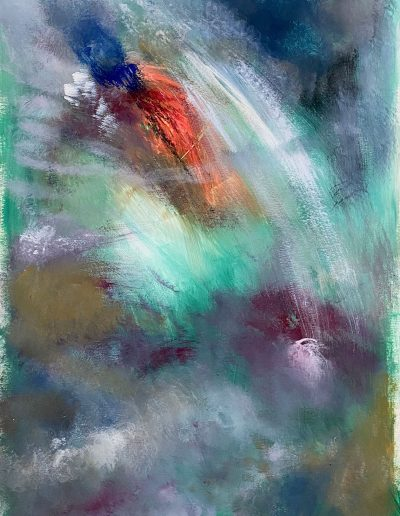 Christine Sparks, Dive in!, A2 Acrylic, 2020