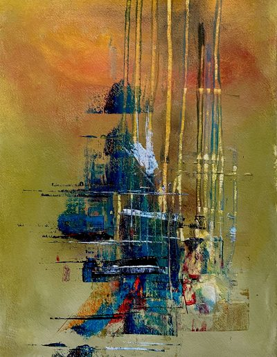 Christine Sparks, Cities in Dust, A3 Acrylic and Watercolour, 2020
