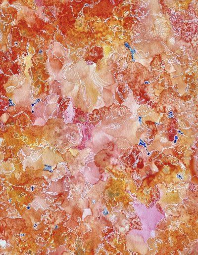 Christine Sparks, Joyful, Joyful, A2 Watercolour and pen, 2020