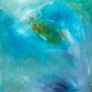 Christine Sparks, Gong Tormented Sea, A2 Acrylic, 2020