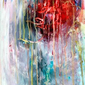 Christine Sparks, Love loves to love Love, A3 Acrylic and Watercolour, 2020
