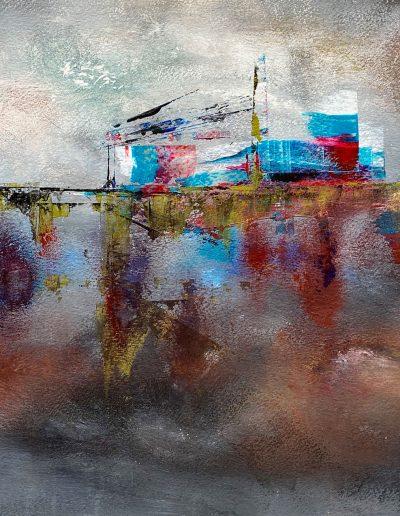 Christine Sparks, Born Slippy, A3 Acrylic, 2020