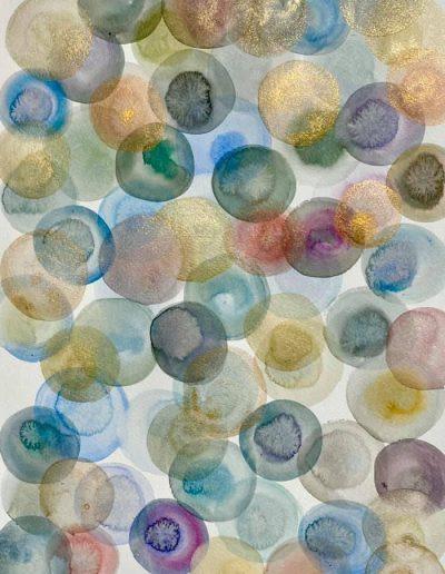 Christine Sparks, Like Fractal Ash, A3 Watercolour, 2020