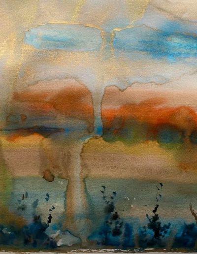 Christine Sparks, Machair, 25x25cm Watercolour, 2020
